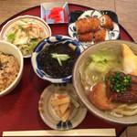 31478812 - ランチ 日替わり定食(汁もの→小そば、ご飯→ジューシーに変更)1650円