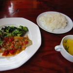 アウグスビール ラボ・キッチン - 本日のお魚料理セット¥880