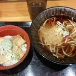 31479219 - 2014.10 たぬきそばと豚丼セット
