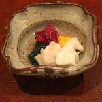 会席料理 岸由 - 鱸の酒蒸し (2014/10)