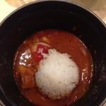麺や高倉二条 - トマトつけ麺 〆ご飯