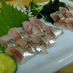 四ツ木製麺所 - 鰯刺身