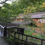 大沢温泉 菊水館 - 自炊部側からみた菊水館