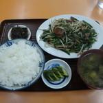 ふじいち食堂 - レバニラ炒めライス