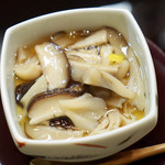 穂の花 - 茸のあんかけ茶碗蒸し