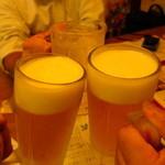居酒屋 酒神 三代目 - 3名で乾杯〜♪
