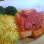 Quatre Cafe - イカのセート風トマト煮込み サフランライス添え