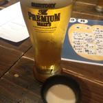 31491446 - ビールはプレモル600円、とウェルカムドリンクの豆乳。