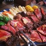 木の子茶屋 - バーベキュー(お肉は上から猪・鹿・黒豚)