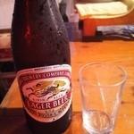 屋台安兵衛 - ビール 中瓶キリンラガー500円
