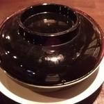 台湾食堂 帆 - 五香鶏排飯(到着時は蓋あり)