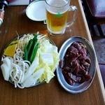 網走原生牧場観光センター 牧場レストラン - ジンギスカンセット