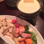美食門天 - 季節の野菜のチーズフォンデュ