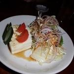 味処わくた - 豆腐サラダ(400円)