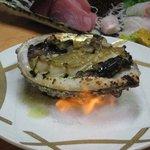 三益寿司 - あわび焼き