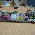 三益寿司 - 刺身の盛り合わせ