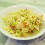 ジャヤピヤサ - ランチ限定のミニ村飯セット(1360円)のサラダ