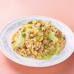 中華風家庭料理 開 - レタスと納豆の炒飯