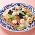 中華風家庭料理 開 - 五目あんかけおこげ