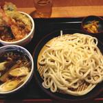 久兵衛屋 - 料理写真:秋なすきのこ汁うどん+ミニ天丼