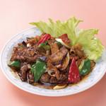 中華風家庭料理 開 - 豚肉となすの味噌炒め