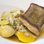 ブーランジェリーカフェ ラ・プロヴァンス - アイナメのポワレ~むき蕎麦と栗・アンディーブのプレゼ~