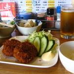 立呑屋さん - (14.10)コロッケ定食 400円