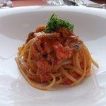 ブラッスリー・アダージョ - ズワイガニとウニとマッシュルームのスパゲティーニ