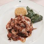 ラブレー - 南仏プロヴァンス風魚貝とトマトのグラタン仕立てサフランライス添え