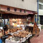 益田商店 元祖朽木屋 - 朝イチは、壮観な眺めでした (2014.10現在)