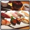 大乃寿司 南林間店 - 料理写真:ランチ10貫おまかせ@1200 茶碗蒸し お椀 デザート付  お一人様カウンター♬