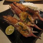 Sammaimesukegorou - 海老のウニ焼き:680円