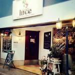 ルーチェ - 外観写真:南イタリアの食堂をイメージしたエントランス