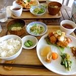 タビタビ - 本日のランチ:とりのから揚げ おろしポン酢:850円