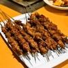 延吉豊 - 料理写真:2014.10 新疆風羊肉串(1串130円)、延辺風羊肉串(1串130円)