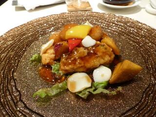文菜華 - 真鯛と秋の味覚の甘酢あんかけ