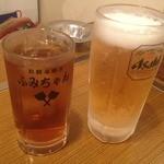 31534705 - 癒しの生ビールとウーロン茶