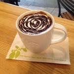 """スターバックスコーヒー - 2014年10月新しくなった""""ラテ""""のチョコレートトッピングしてもらったら~♪"""