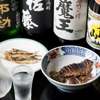 お料理によく合う特選地酒、地焼酎そろえています