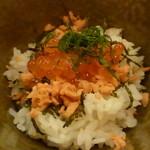 蕎麦ダイニング杜 - せいろ蕎麦と日替わり小丼(大盛り)¥680
