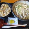 京富 - 料理写真:きざみうどんと親子丼のセット
