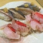31573882 - 金目鯛の炙り、天然秋刀魚炙り