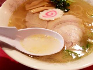 龍鳳 大門横丁店 - 201409 あっさり塩スープと熟成鶏油の深いコク