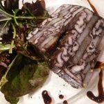 ビストロ ポンレヴェック - 穴子の赤ワイン煮と山芋のテリーヌ