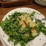 パセリ - ルッコラとドライトマトのスパゲッティー1,300円+税