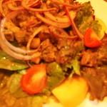 ラ ボッテガ デル オーリオ - イベリコ豚ボイルタン 白インゲン豆・ひよこ豆のサラダ