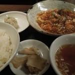 中国料理 萬里 - 麻婆豆腐定食 850円 H26.10