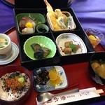 湯野温泉 紫水園 - よくばり御膳 1600円温泉のセット 4回目