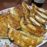 餃子の王将 - 餃子2人前、よく焼きでの注文です