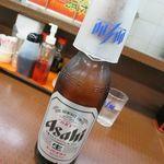 餃子の王将 - なぜか王将では生ビールではなく瓶ビールを頼んでしまいます
